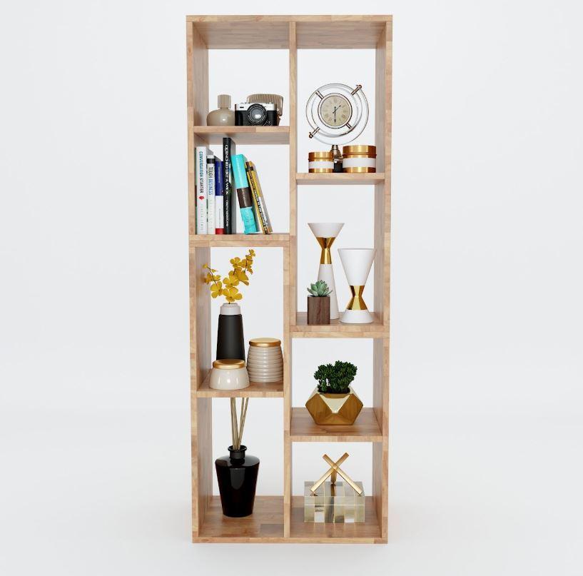 Kệ sách gỗ cao su 4 tầng
