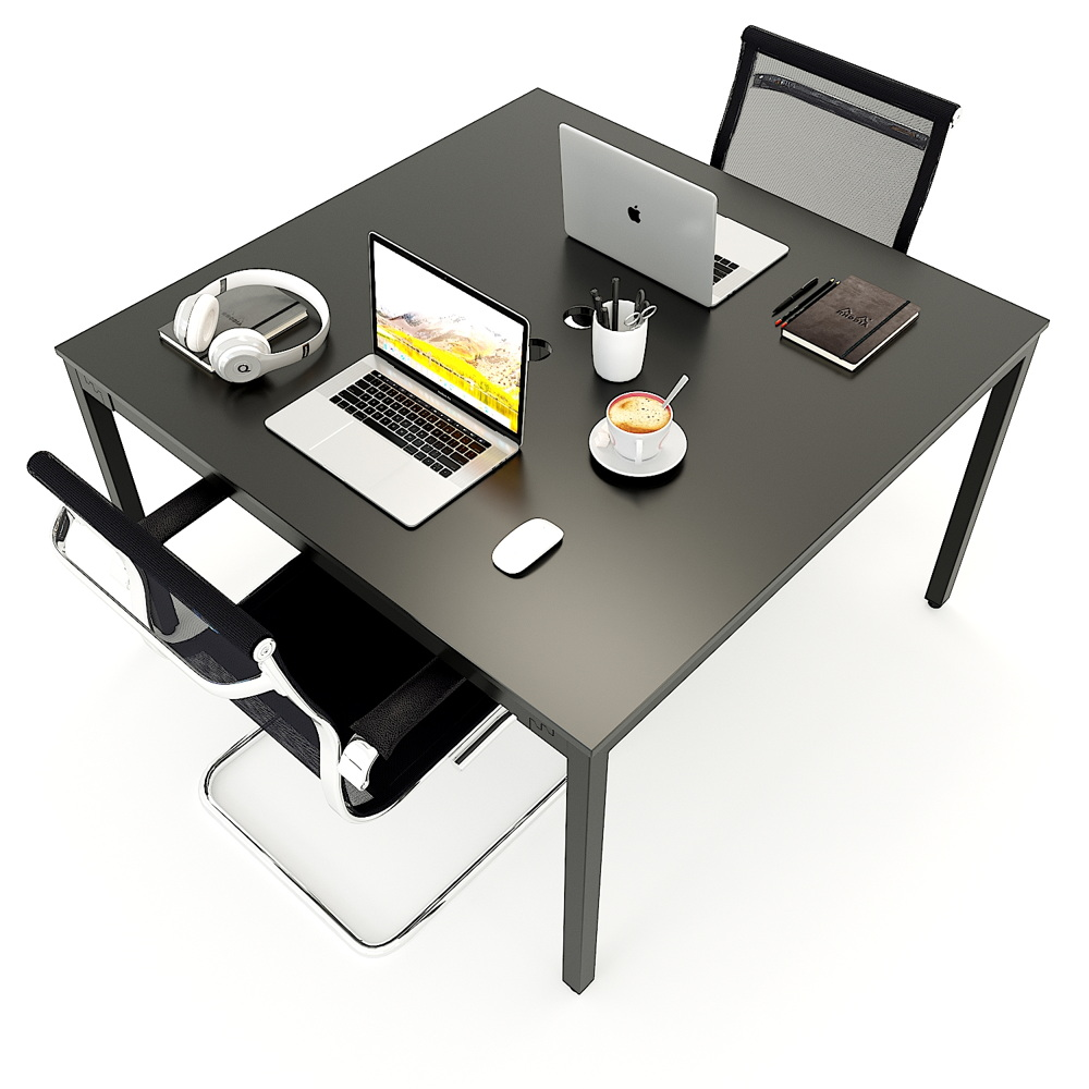 Cluster of two-seat desk