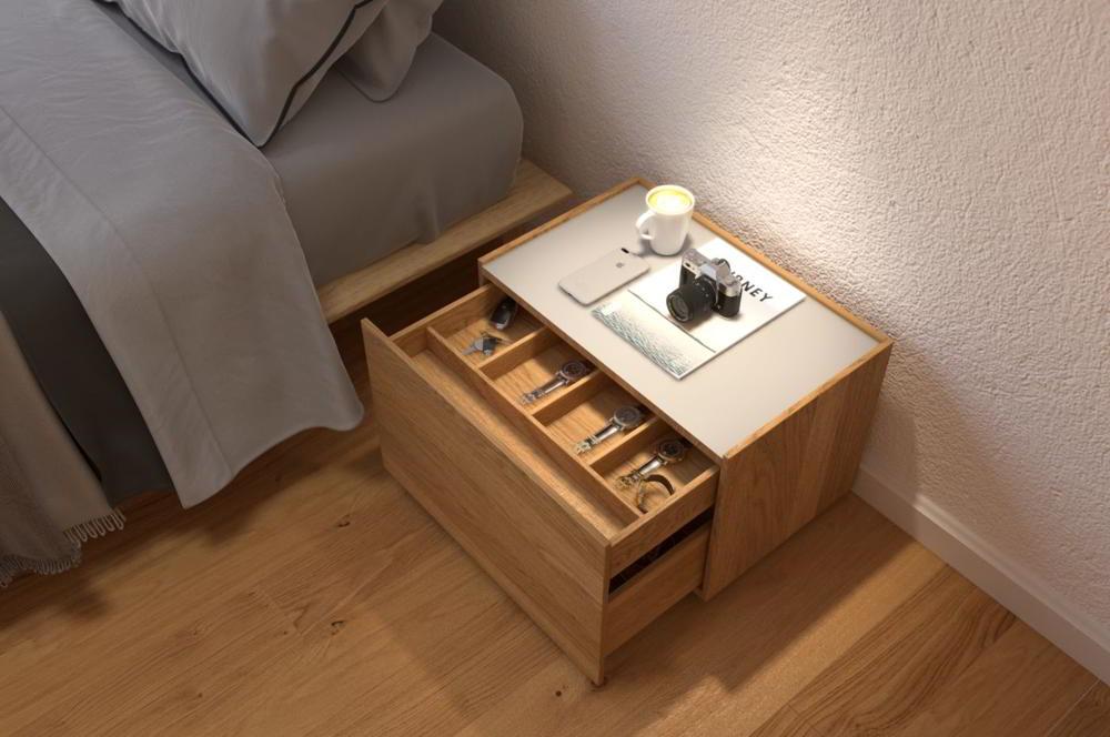 Tủ đầu giường gỗ công nghiệp