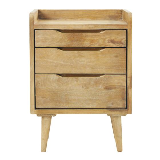 Tủ đầu giường gỗ tự nhiên