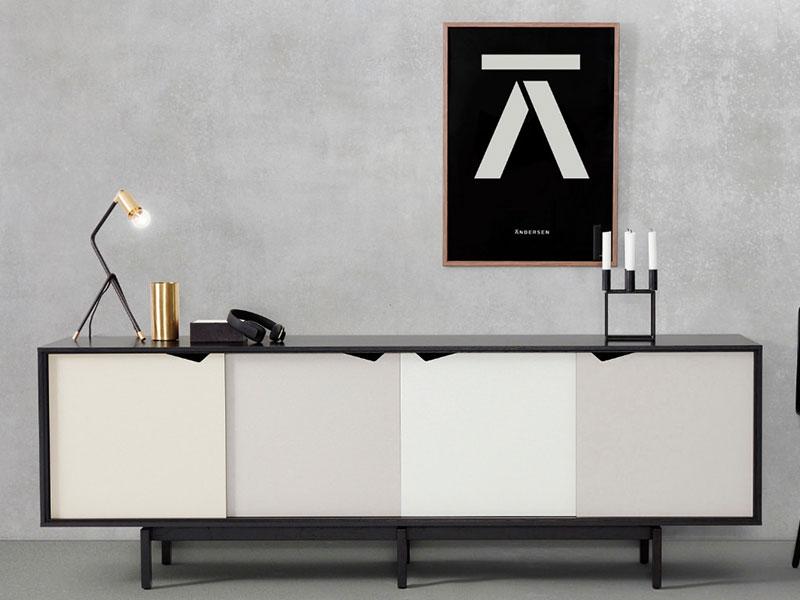 Tủ trang trí phòng khách hiện đại