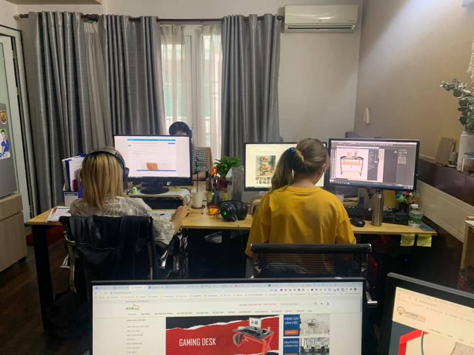 Nơi Team thiết kế và Marketing làm việc