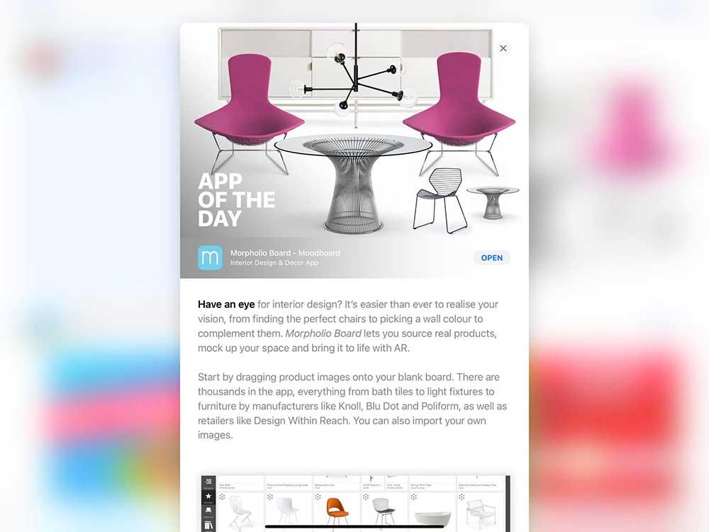 MoodBoar ứng dụng thiết kế nội thất