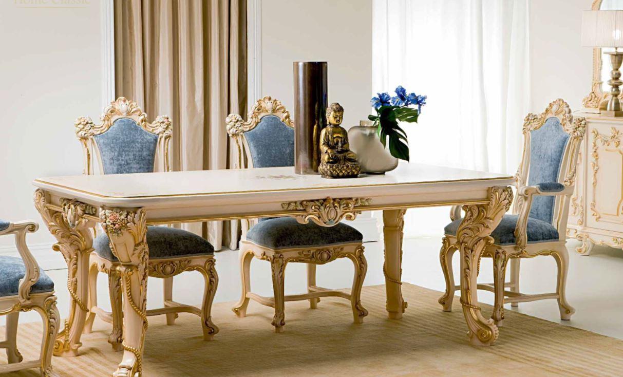 Mẫu bàn ăn cổ điển với nhiều họa tiết