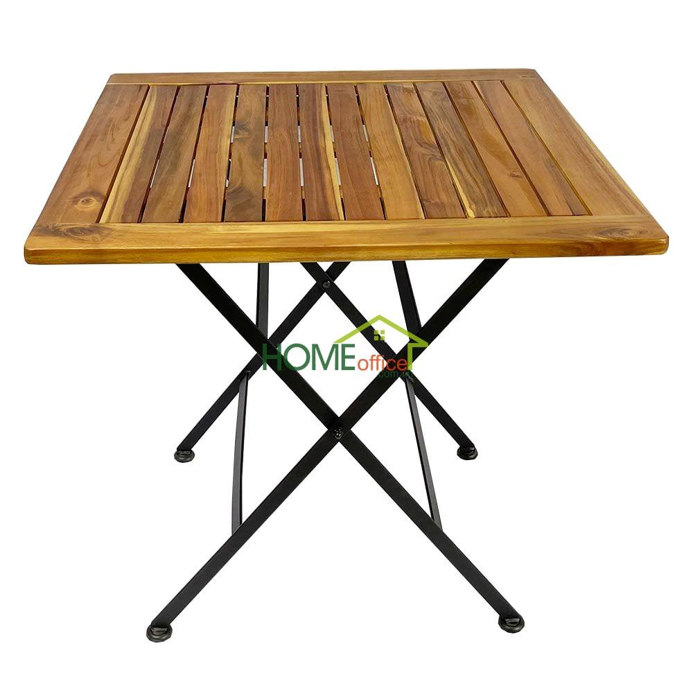 Bàn ăn vuông 70cm gỗ tràm có thể xếp gọn