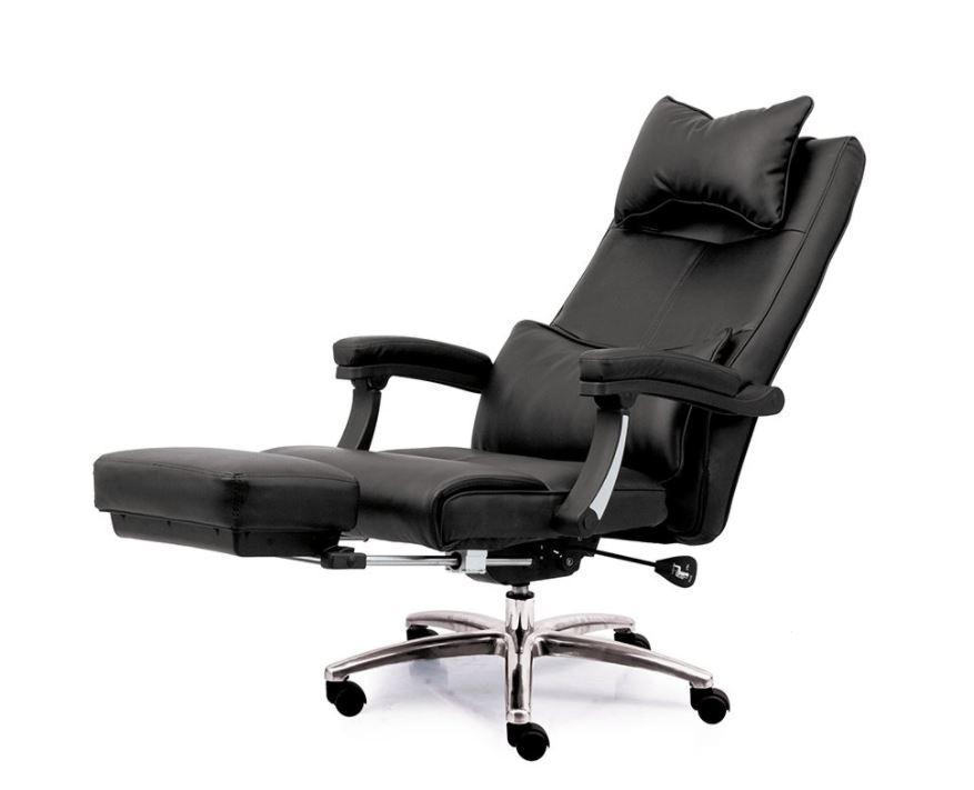 Ghế giám đốc bọc da hiện đại có thể ngả nằm và gác chân