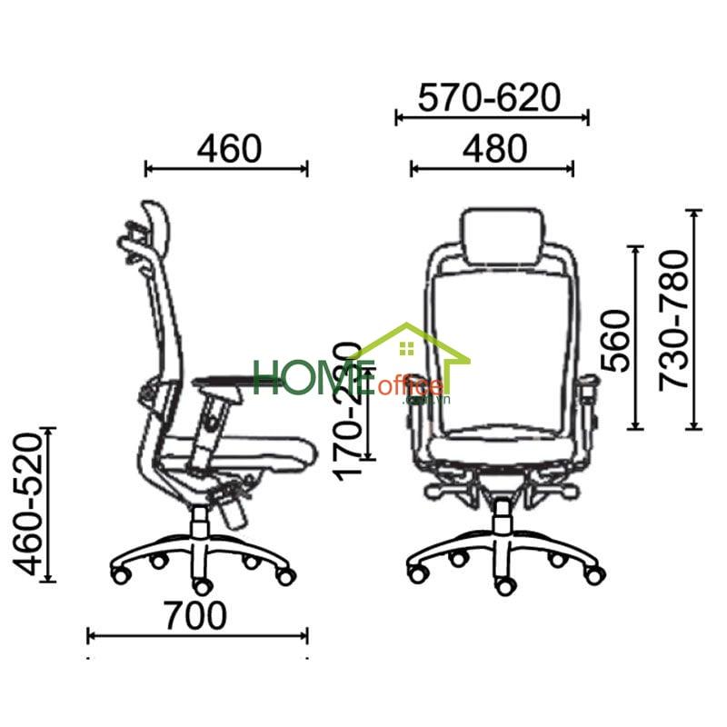 Kích thước ghế giám đốc cũng là một tiêu chí quan trọng