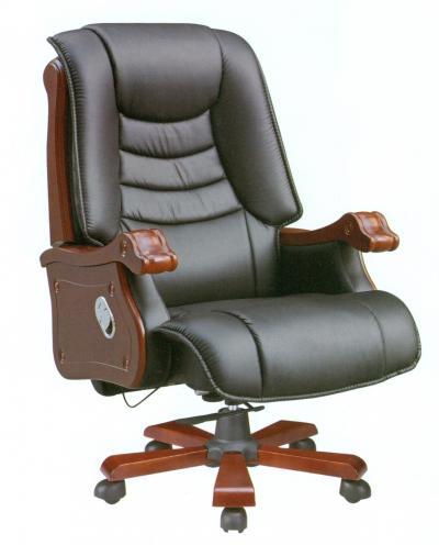 Ghế giám đốc bọc da kết hợp gỗ