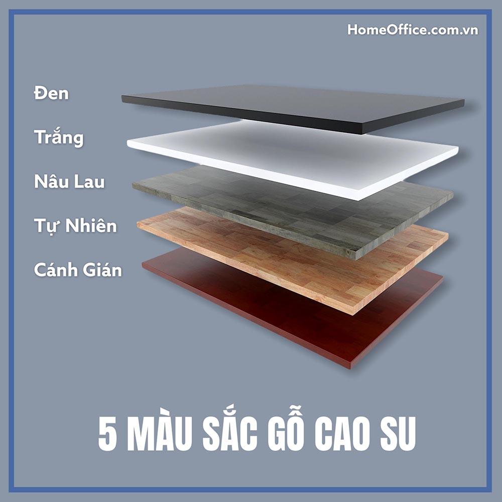 5 màu sắc chủ đạo gỗ cao su của HomeOffice