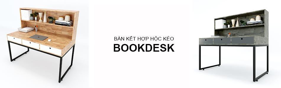 bàn kết hợp hộc kéo bookdesk
