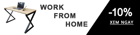 banner khuyến mãi bàn làm việc đơn giản