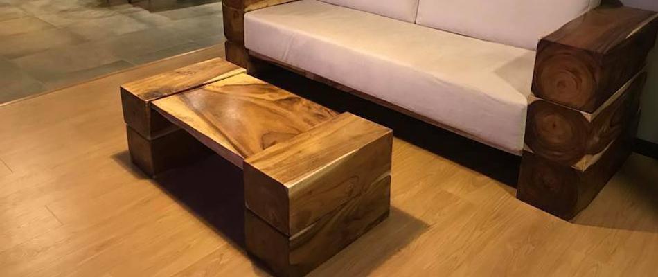 bàn sofa gỗ me tây
