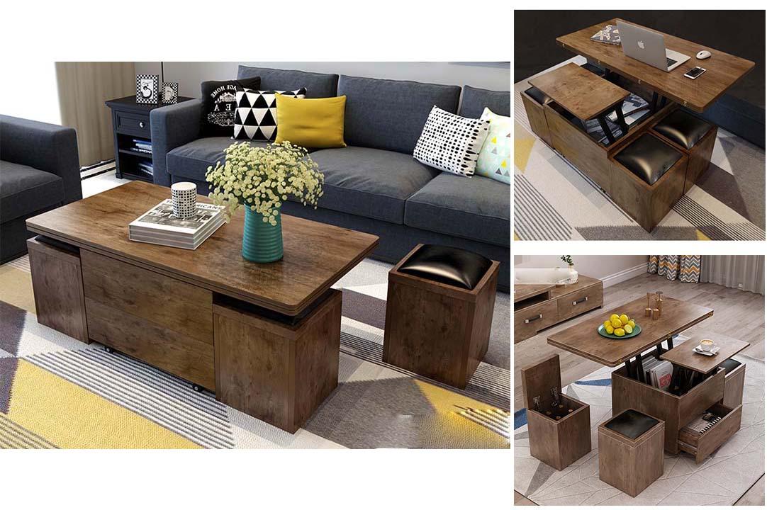 Bàn sofa thông minh tích hợp nhiều công dụng ngày càng phổ biến