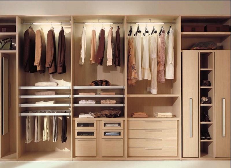 Kết cấu tủ quần áo đơn giản