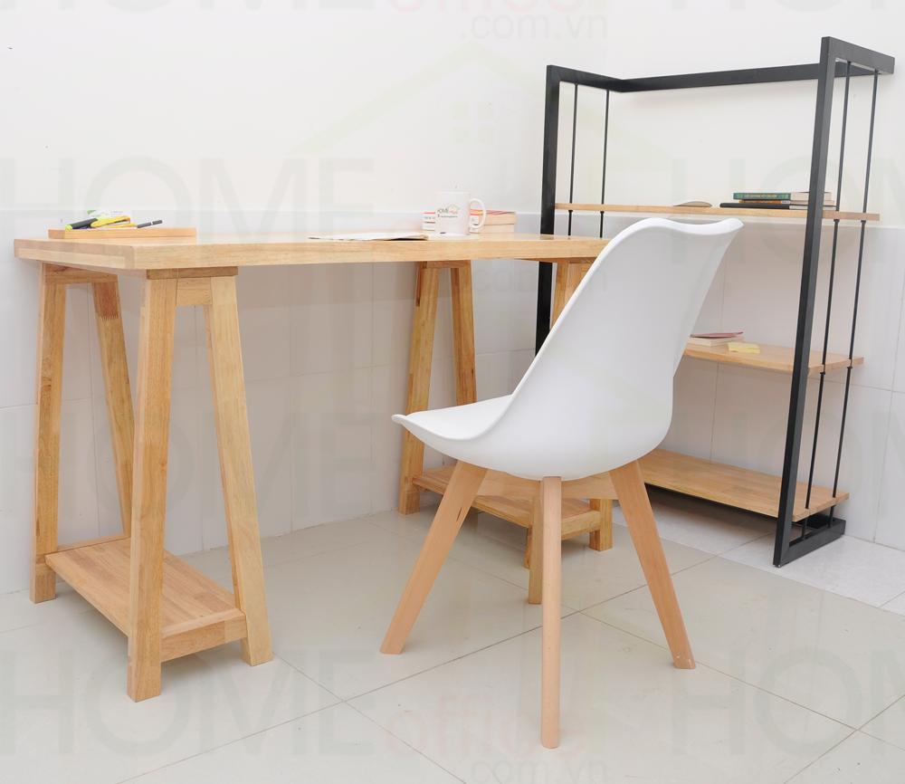 ghế bàn cao có đệm màu trắng