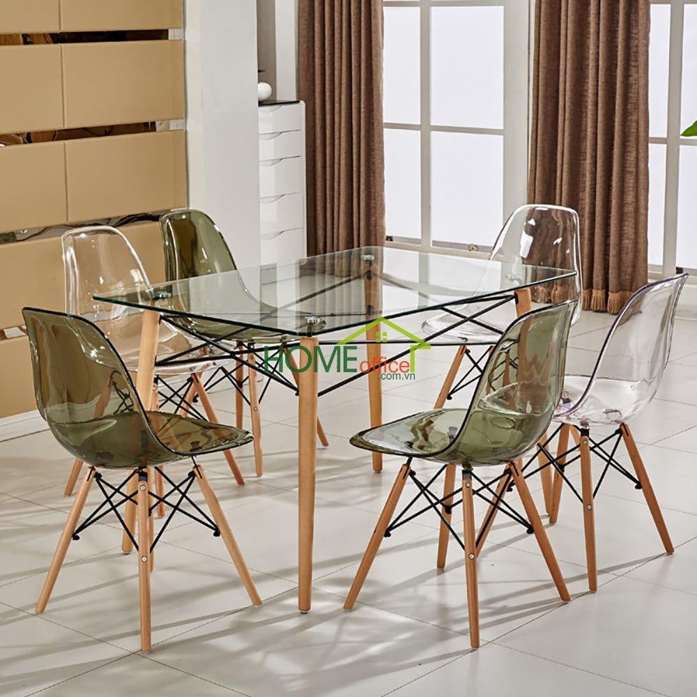bàn ăn gỗ tự nhiên hiện đại