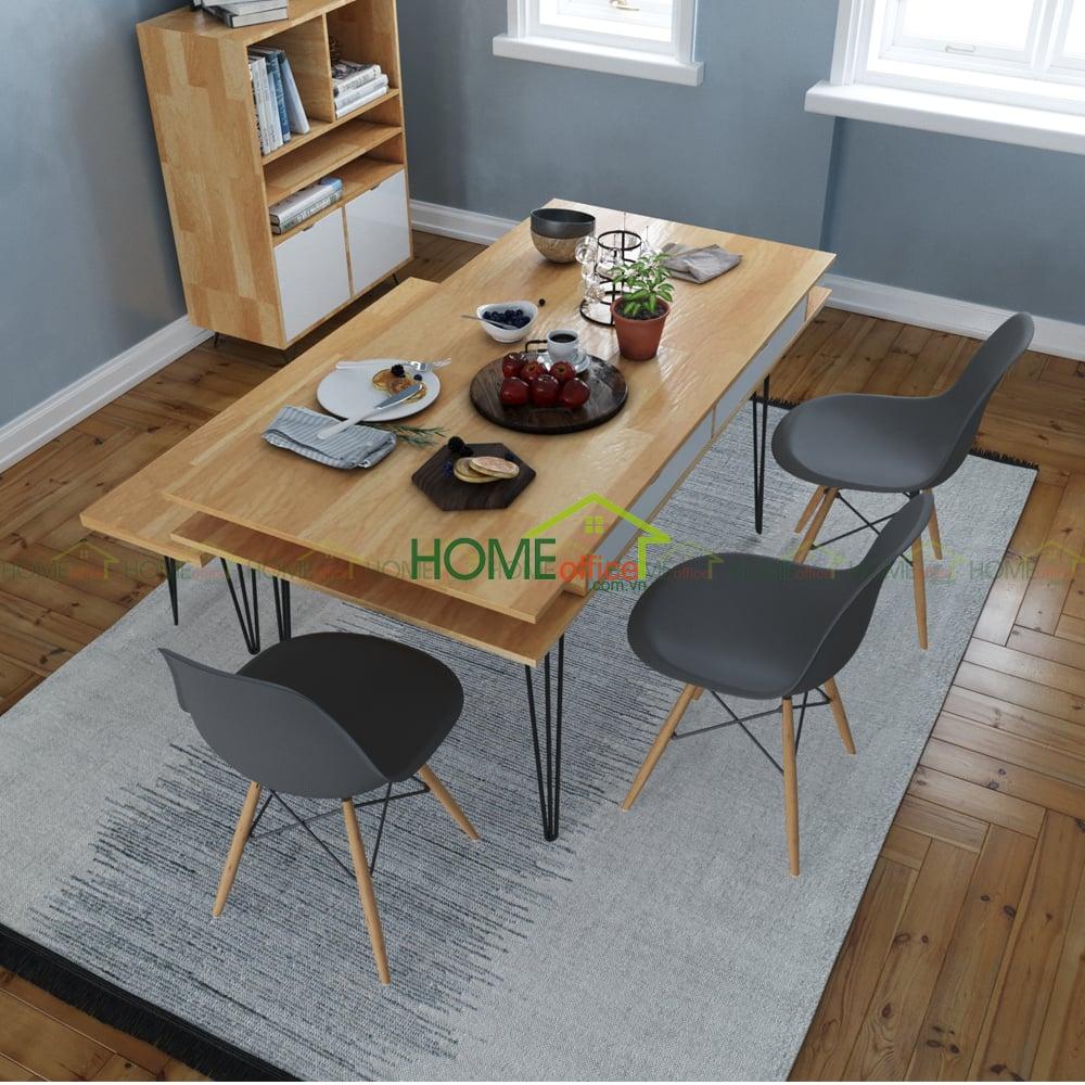 bàn ăn gỗ cao su