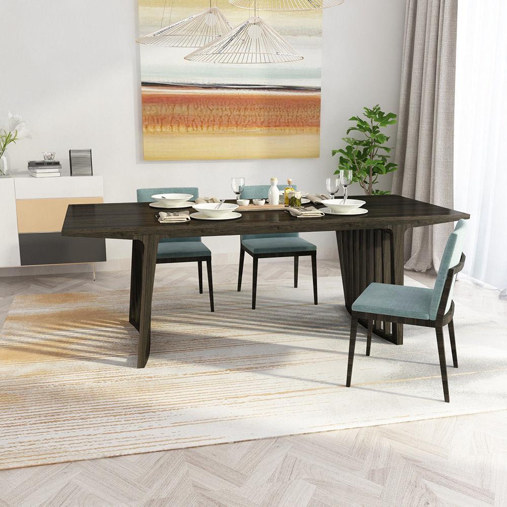 bàn ăn gỗ tre ghép