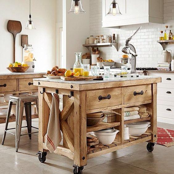 kệ bếp di động gỗ đẹp