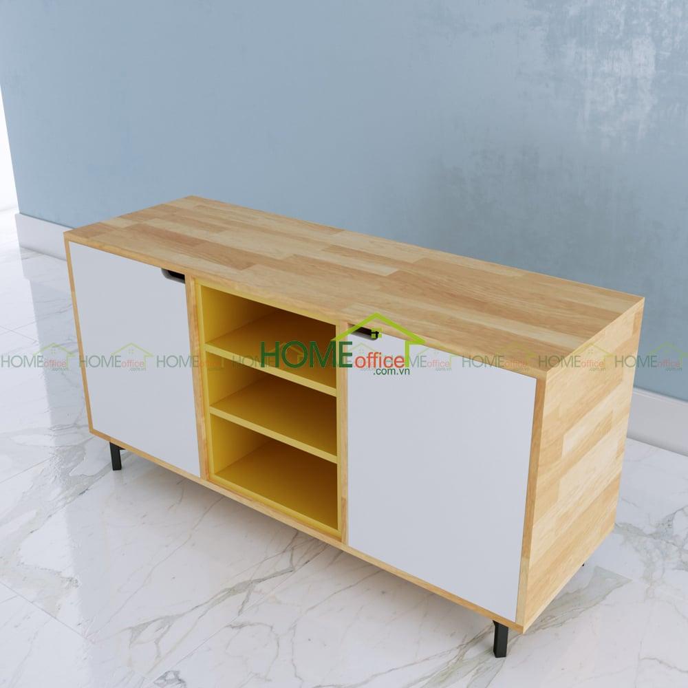 tủ gỗ trang trí phòng khách