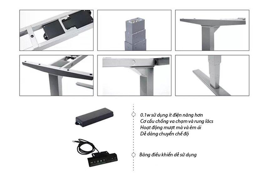 Chân bàn họp nâng hạ điện 3 chân trụ 3 khớp - HONT33-3A3-180