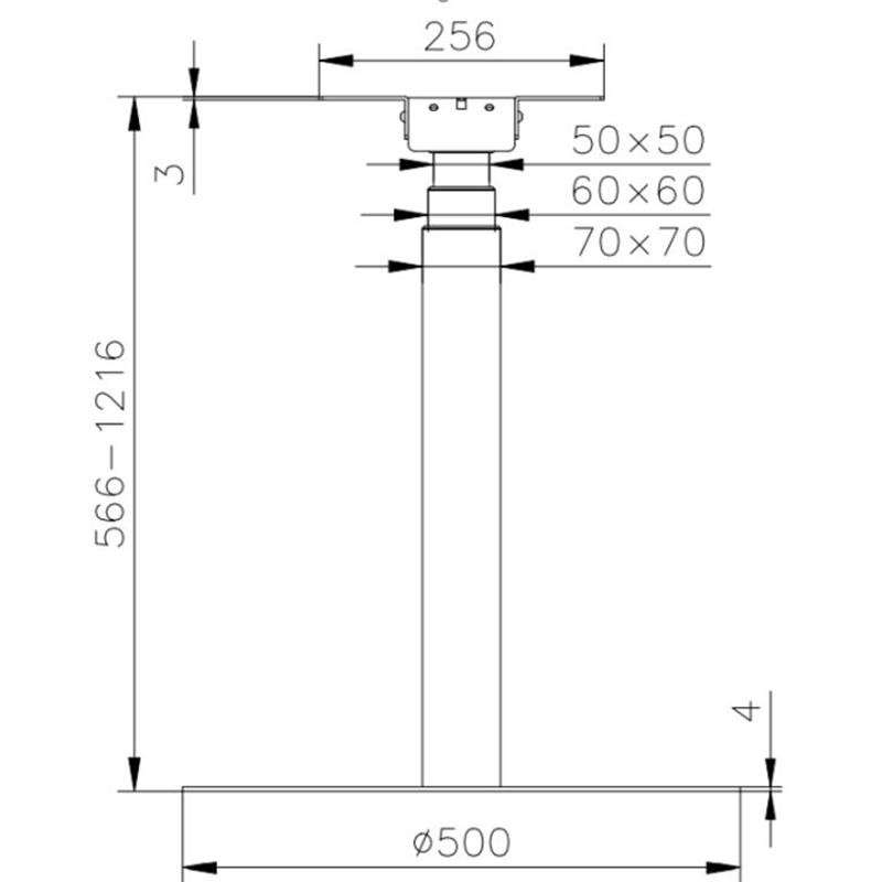 Chân bàn nâng hạ điện 1 trụ đế tròn - HONT33-E1