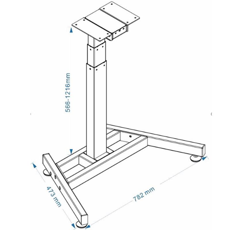 Chân bàn nâng hạ điện 1 chân trụ đế hộp - HONT33-E2