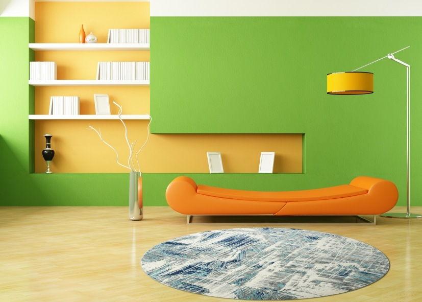 Thảm phòng khách hoa văn sáng tạo hình tròn