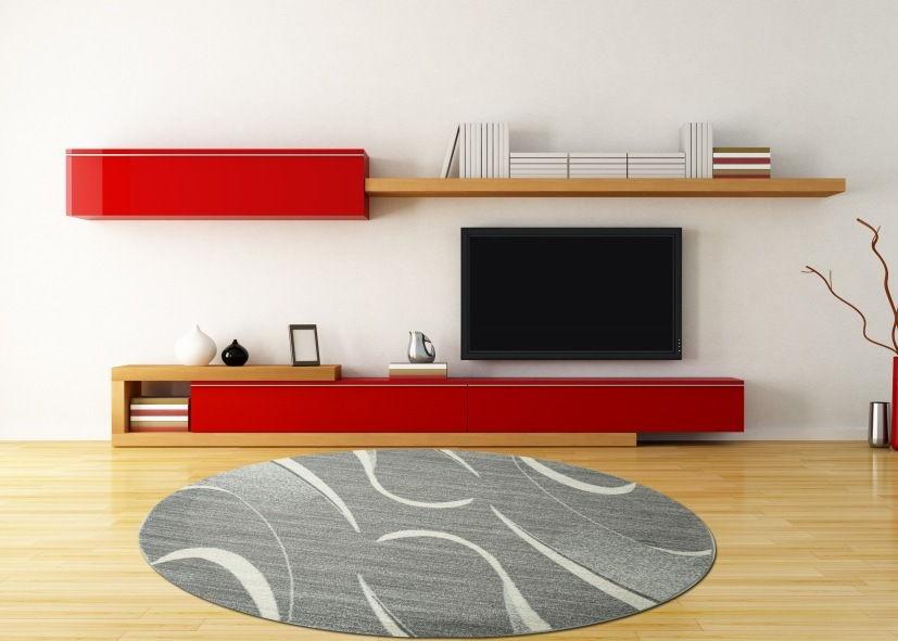 Thảm trải sàn sợi ngắn phòng khách tròn