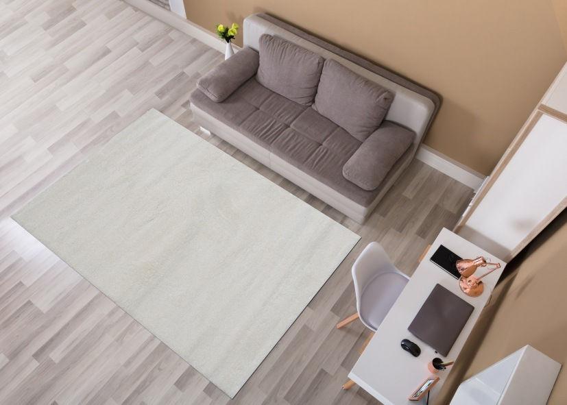 Thảm phòng khách màu trắng