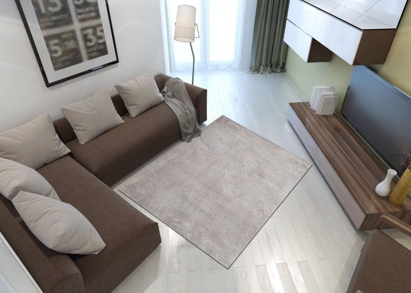 Thảm phòng khách màu xám trắng
