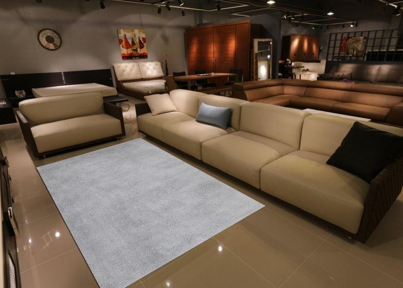 Thảm phòng khách màu xám