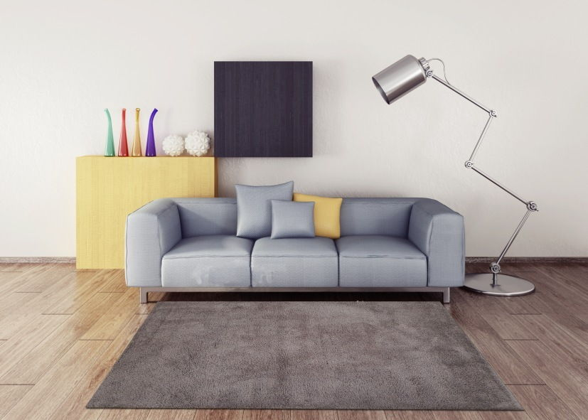 Thảm phòng khách màu nâu đất