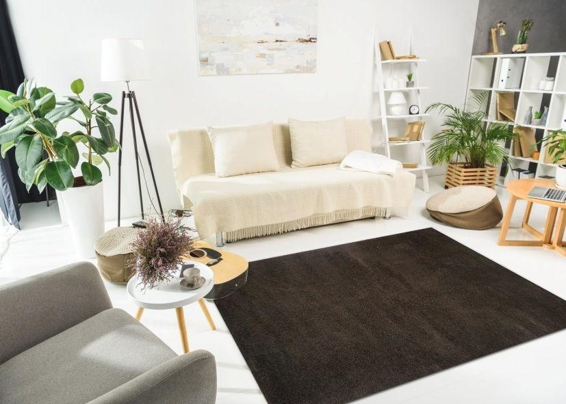 Thảm phòng khách màu đen