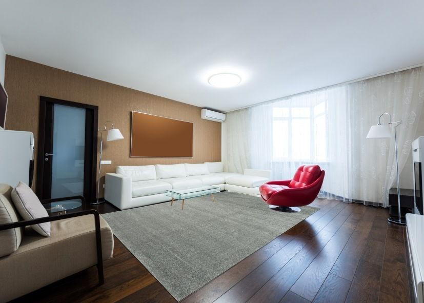 Thảm phòng khách màu rêu