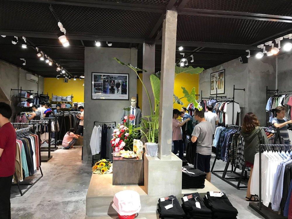 thi công nội thất shop thời trang nam routine