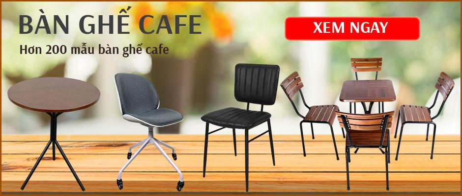 bàn ghế cafe banner