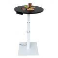 HOE1_A2 - Bàn FlexiCoffee 3 khớp, mặt bàn hình tròn gỗ cao su