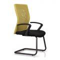 HOCQ68009 - Ghế chân quỳ phòng họp lưng lưới màu vàng, nệm đen