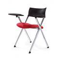 GXVP68007 - Ghế xếp văn phòng nệm màu đỏ, tay cố định