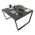 HBTC013 - Bàn cụm 2 120x120 Trapeze Concept lắp ráp