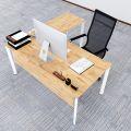 Bàn chữ L 160x160 hệ Oval Concept lắp ráp HBOV018
