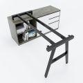 HCAC022 - Chân bàn gác tủ hệ AConcept 140x60 lắp ráp