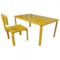 KD68012 - Bộ bàn ghế học tập cho trẻ em KidDesk V2 màu vàng 100x60x45cm