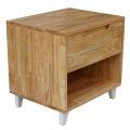 TDG68015 - Tủ đầu giường 1 ngăn kéo gỗ cao su (50x40x48cm)