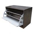 KG68019 - Tủ gỗ để giày 1 ngăn màu nâu lau