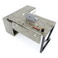 HBKC020 - Bàn giám đốc 160x140 (mặt bàn 70cm) KConcept chân sắt lắp ráp