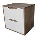 TDG68023 - Tủ đầu giường 2 ngăn kéo màu nâu lau 50x40x50cm