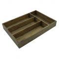 PKT005- Khay đựng giao nĩa gỗ tre cho nhà hàng màu nâu lau