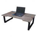SGD005 - Bàn ngồi bệt SGDesk gỗ cao su màu nâu KHUYẾT chân gấp thấp (100x60x35cm)